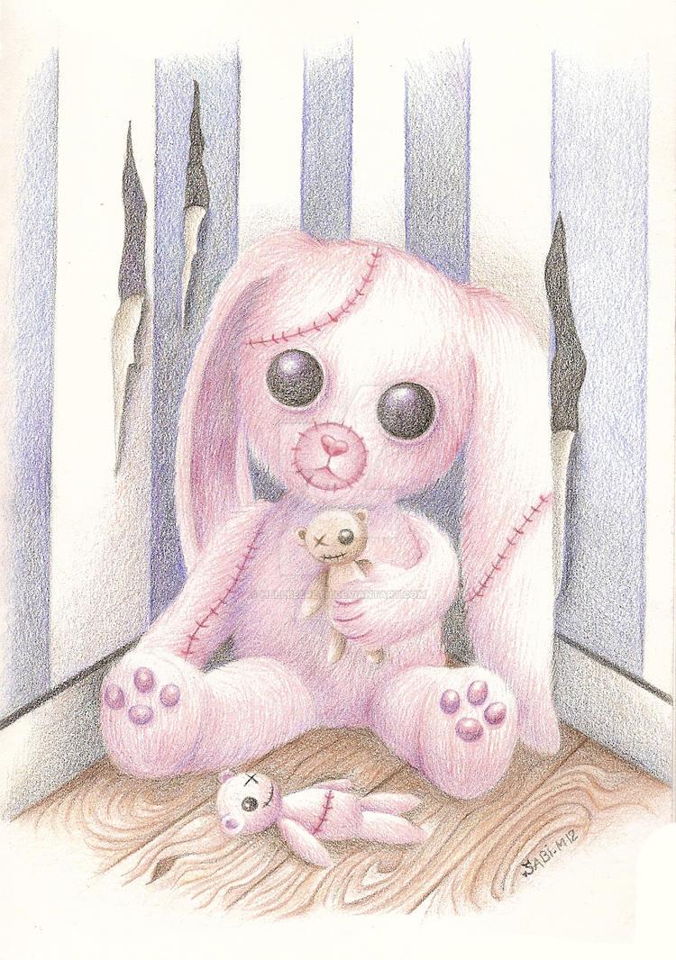 Strange bunny by HellbeeretH