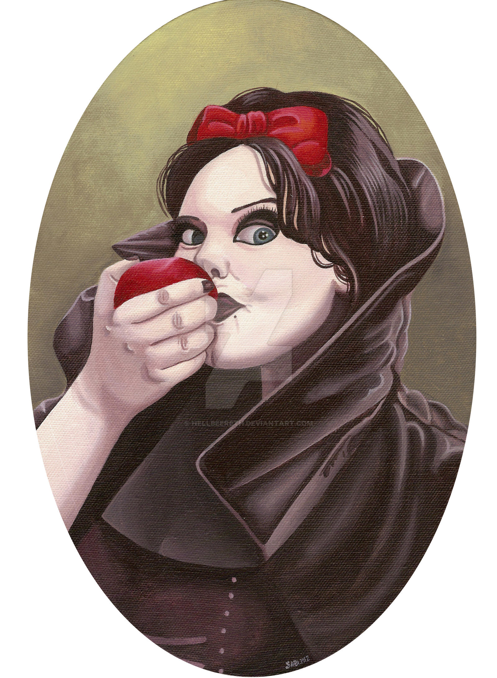 Anette Olzon as Snow white by HellbeeretH