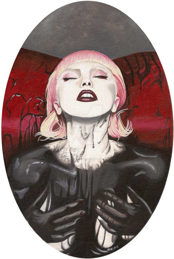 Lady Gaga bathing by HellbeeretH