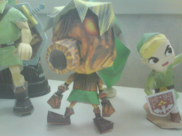 Deku link papercraft by killero94