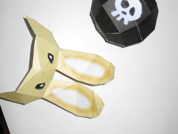 Bunny hood and blast mask by killero94