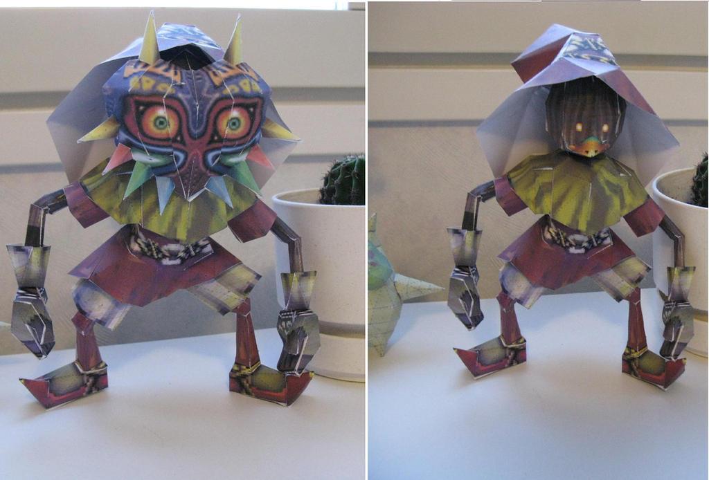 Skull kid papercraft by killero94