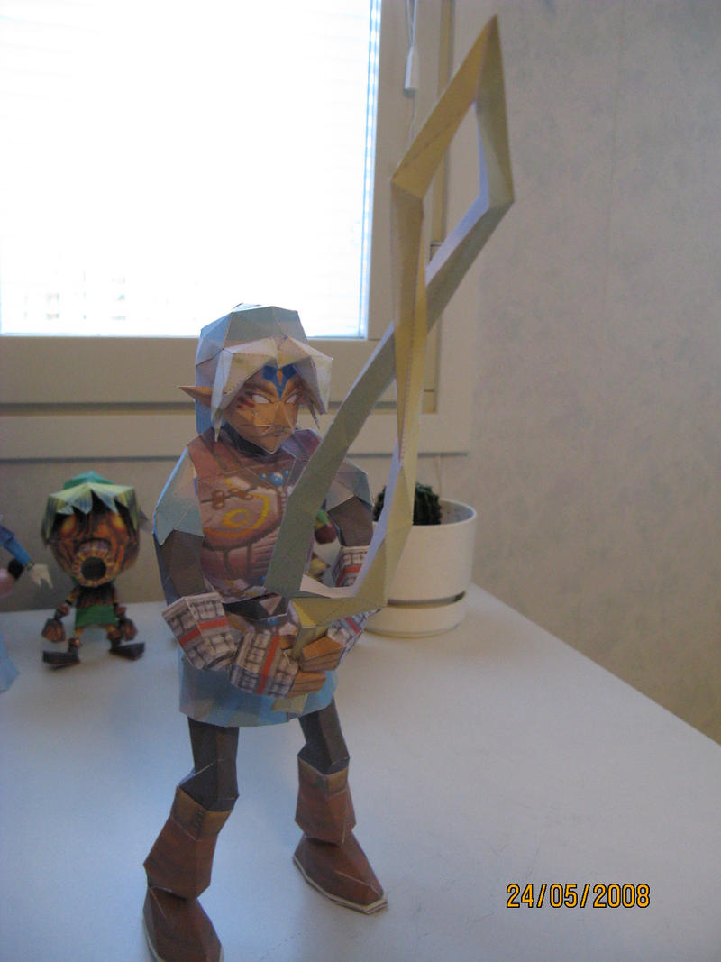 Fierce deity link papercraft by killero94