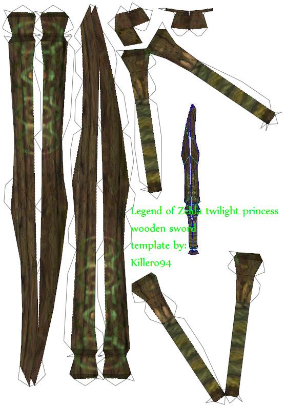 Wooden sword template