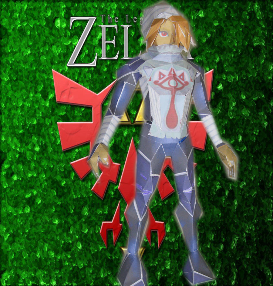 Sheik papercraft by killero94