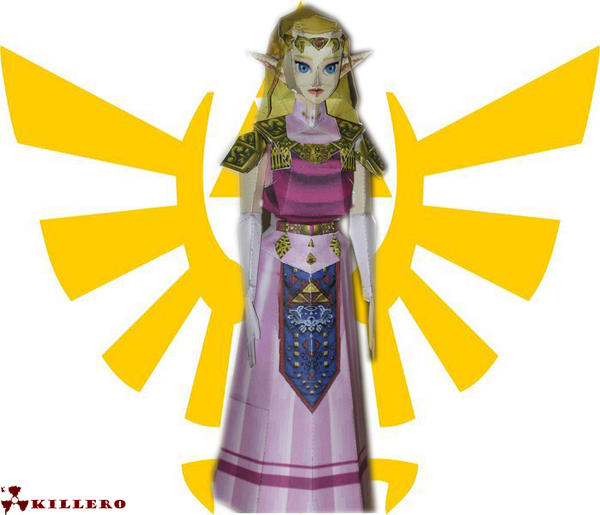 Adult Zelda Papercraft by killero94