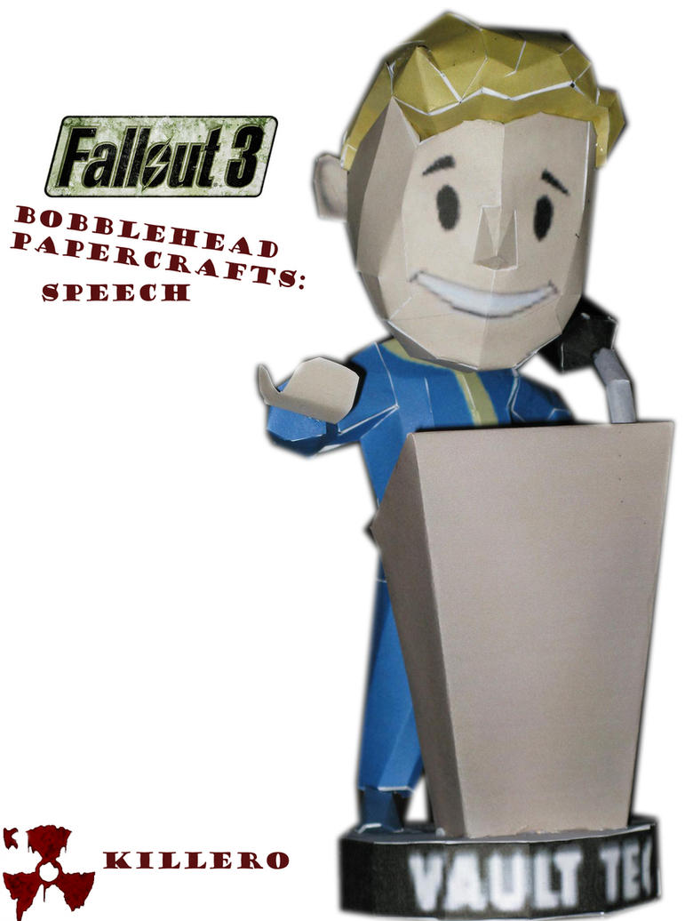 Fallout 3 Speech Bobblehead by killero94