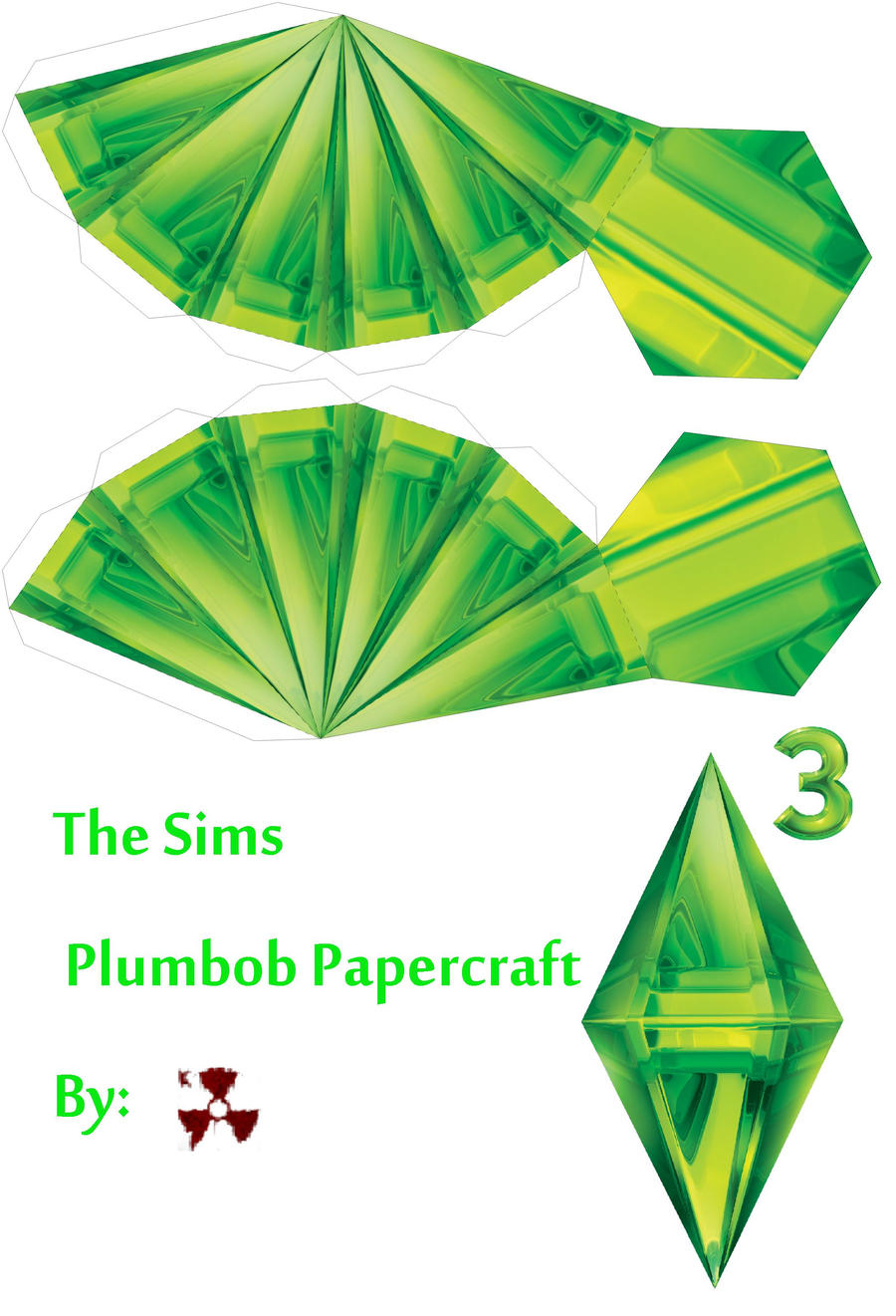 The Sims Plumbob Papercraft by killero94