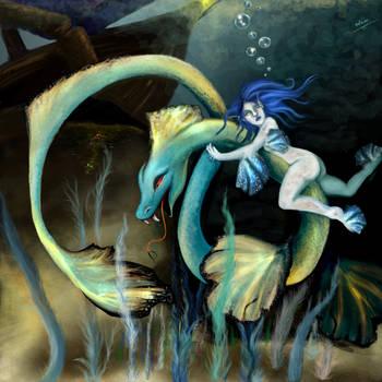 water dragon by ElizabethPeach