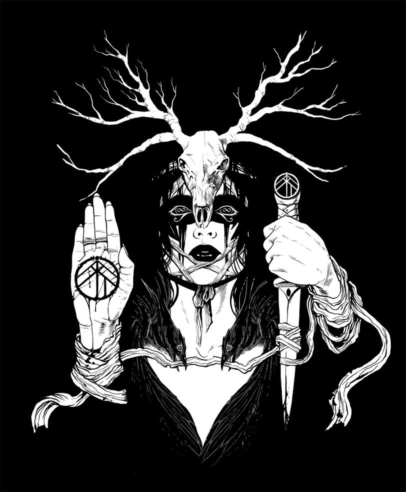 Wolvserpent 'Guardian' T-Shirt Design by arosenlund