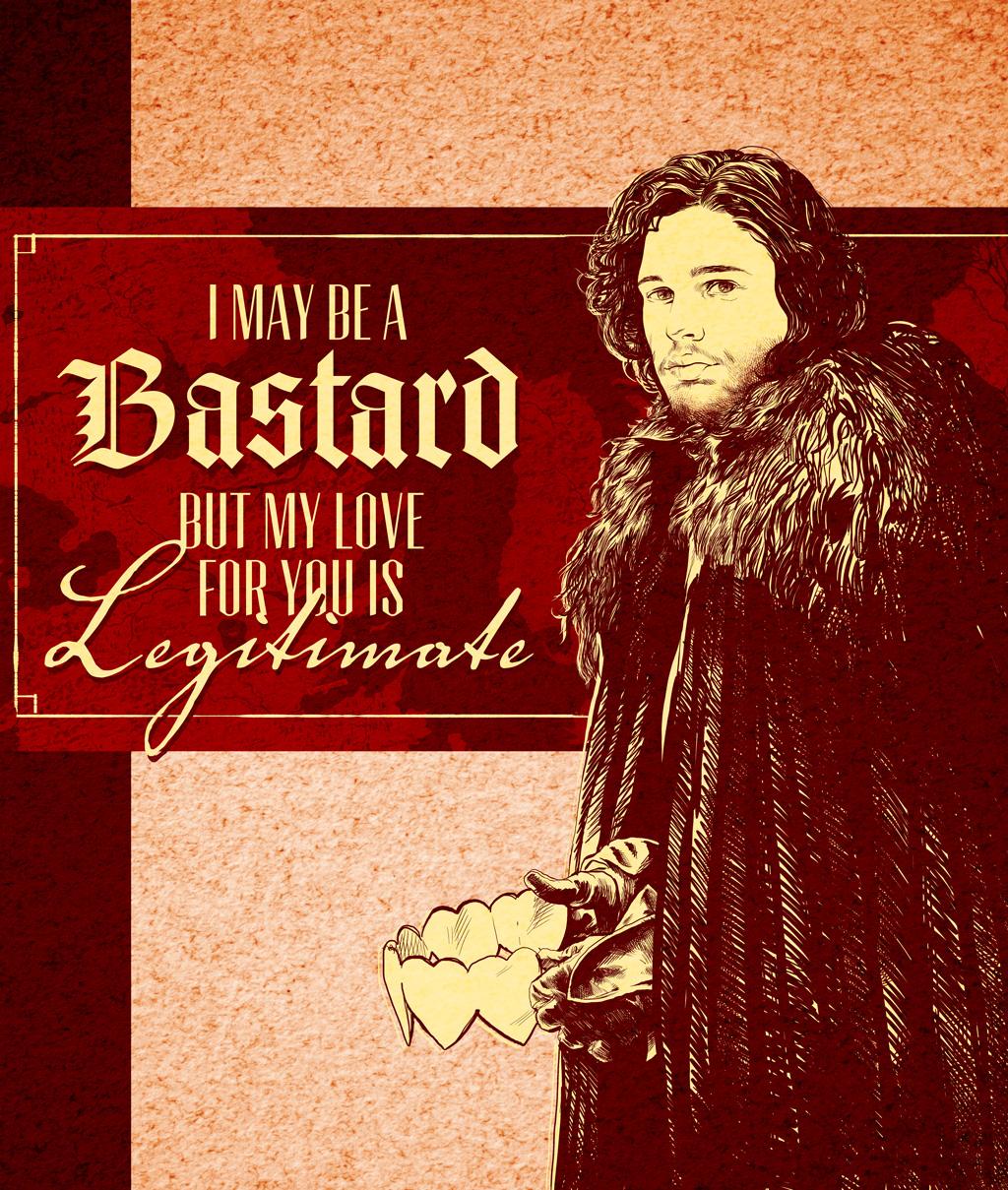 Schön ... Game Of Thrones Valentine   Jon Snow By Arosenlund