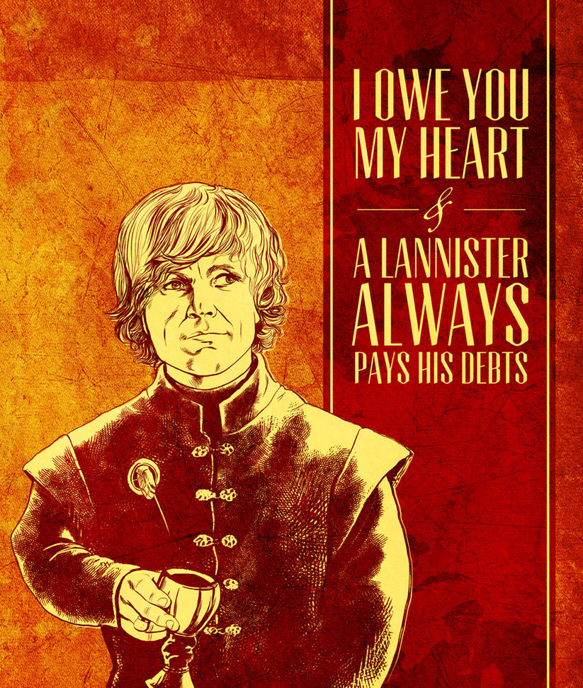 Game of Thrones Valentine - Tyrion Lannister by arosenlund on DeviantArt