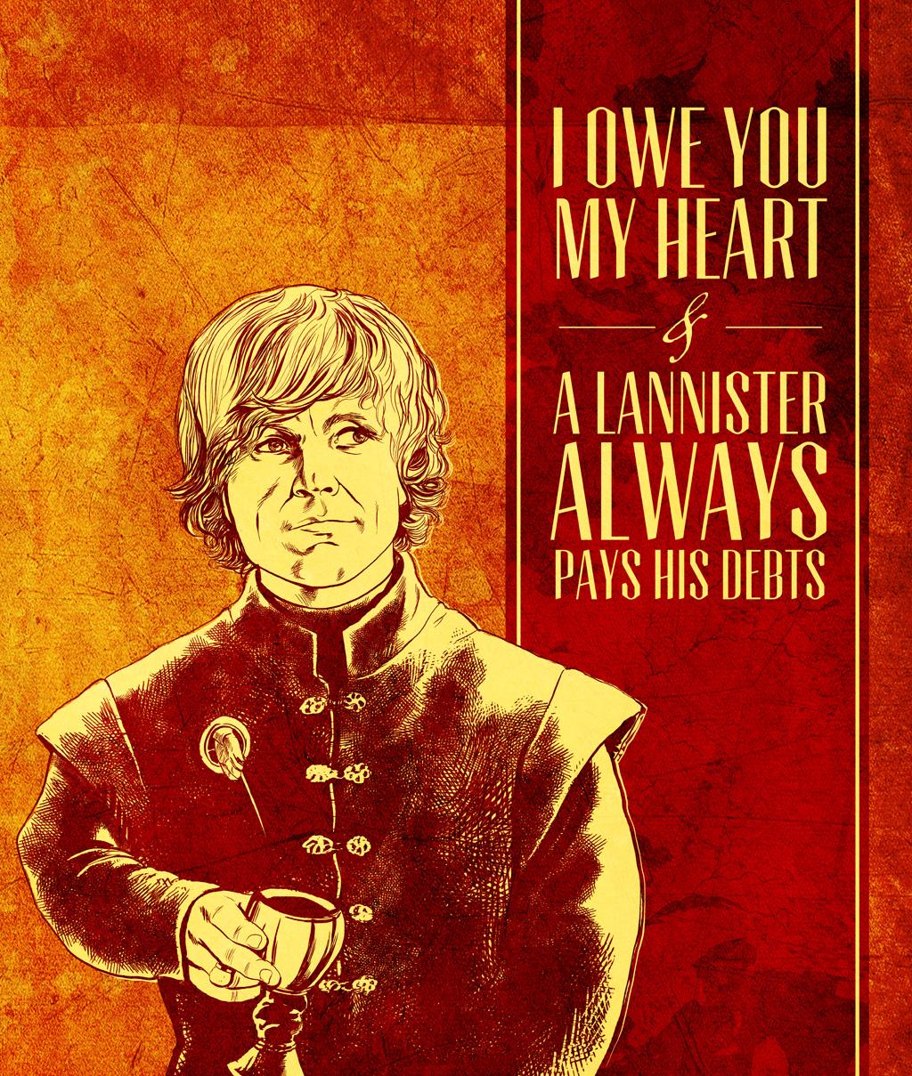 Elegant ... Game Of Thrones Valentine   Tyrion Lannister By Arosenlund