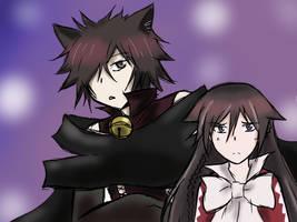 Cheshire and Alice by VAMPIRELG