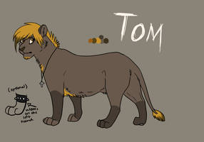 Tom reference sheet by Bluewolfu