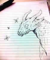Pupa (School doodle) by Bluewolfu