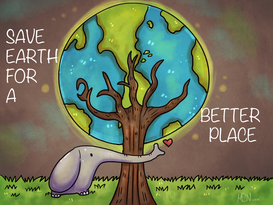 Save Earth .:School Project:. by Bluedoge