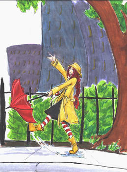 Crimson in the Rain