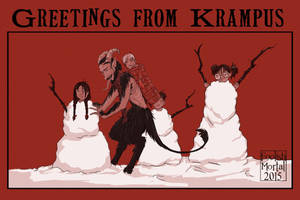 It's a White Krampusnacht by lissa-quon