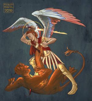 St Michael and the Devil
