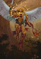 Sanguinius the Great Angel by Deepseaweed