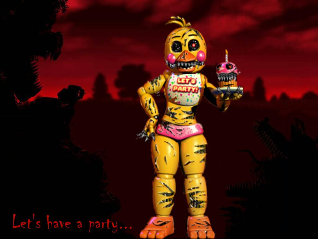 Nightmare Toy Chica (FNaF 4/FNaF 2) By RoheyatheShadowolf