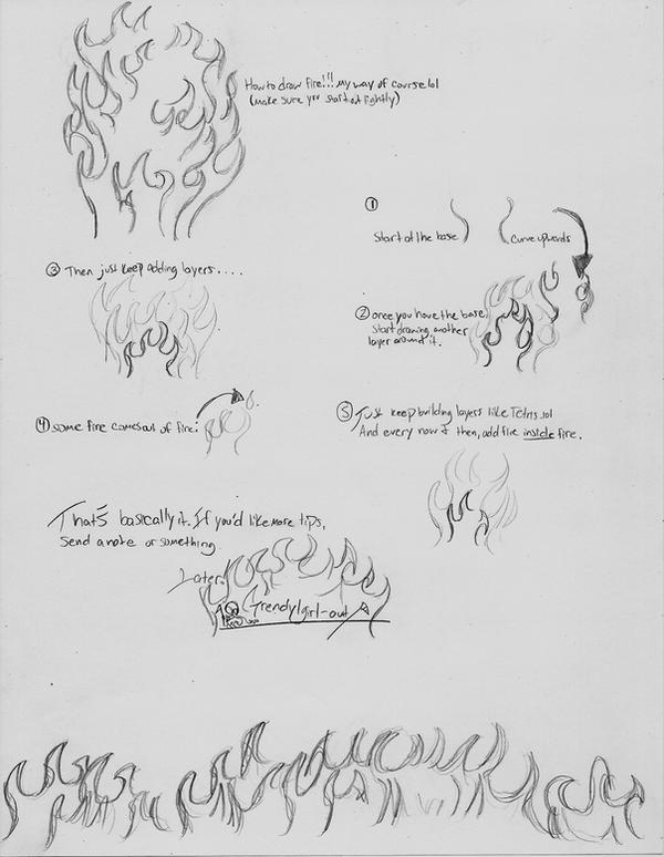How To Draw Fire by grendylgirl