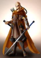 Commission - Monk swordsman by roadkillblues