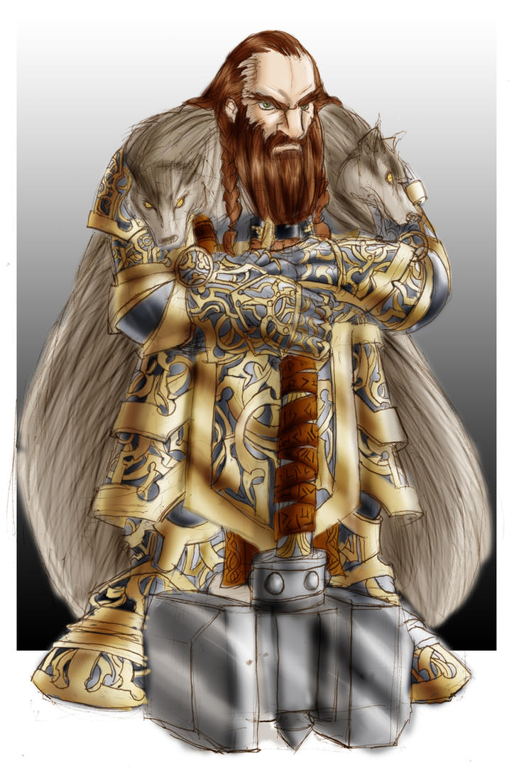 Dwarven Clan Chieftain by roadkillblues