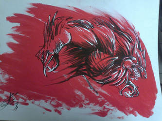 001 - Raging Garou by roadkillblues