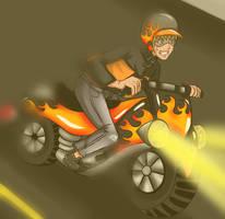 CP: The Bike by Kitsunena