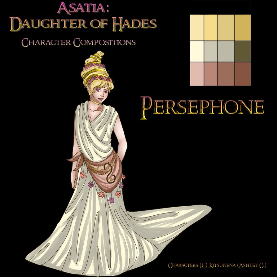 Character composition Persephone by Kitsunena