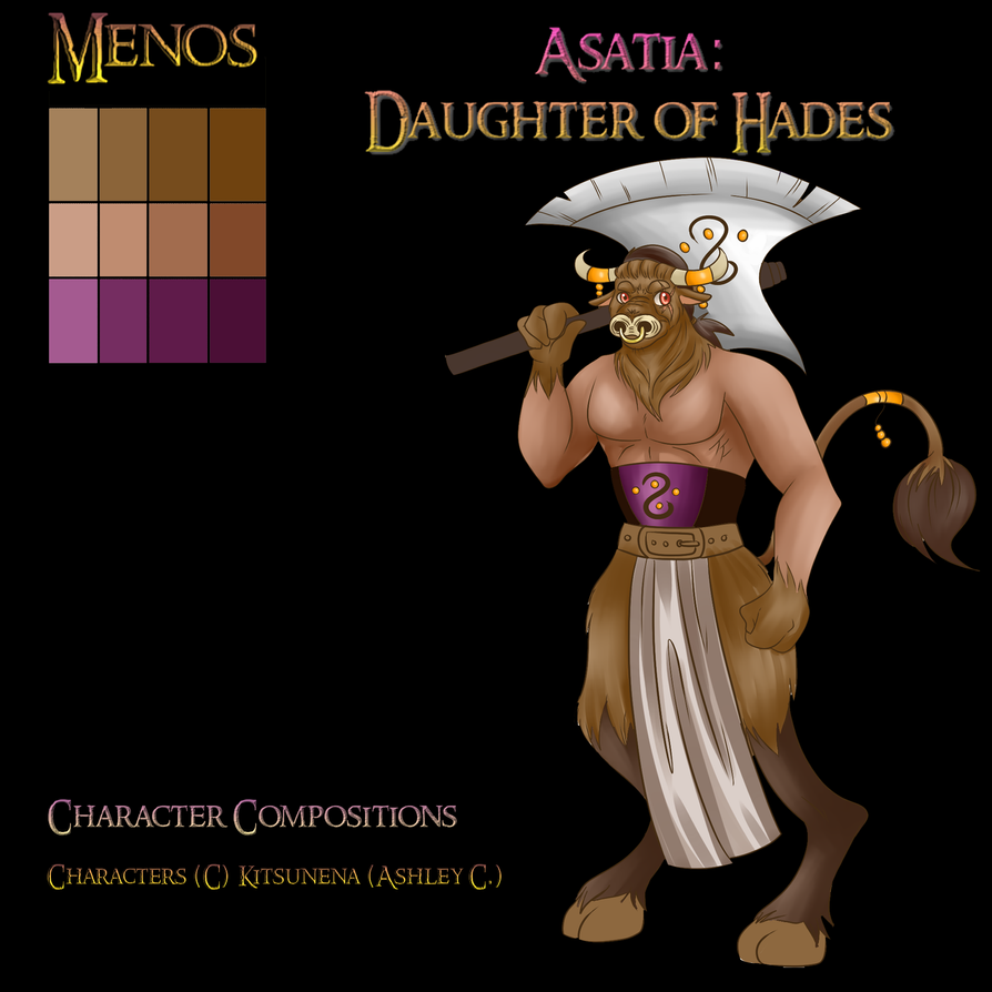 Character composition Menos by Kitsunena