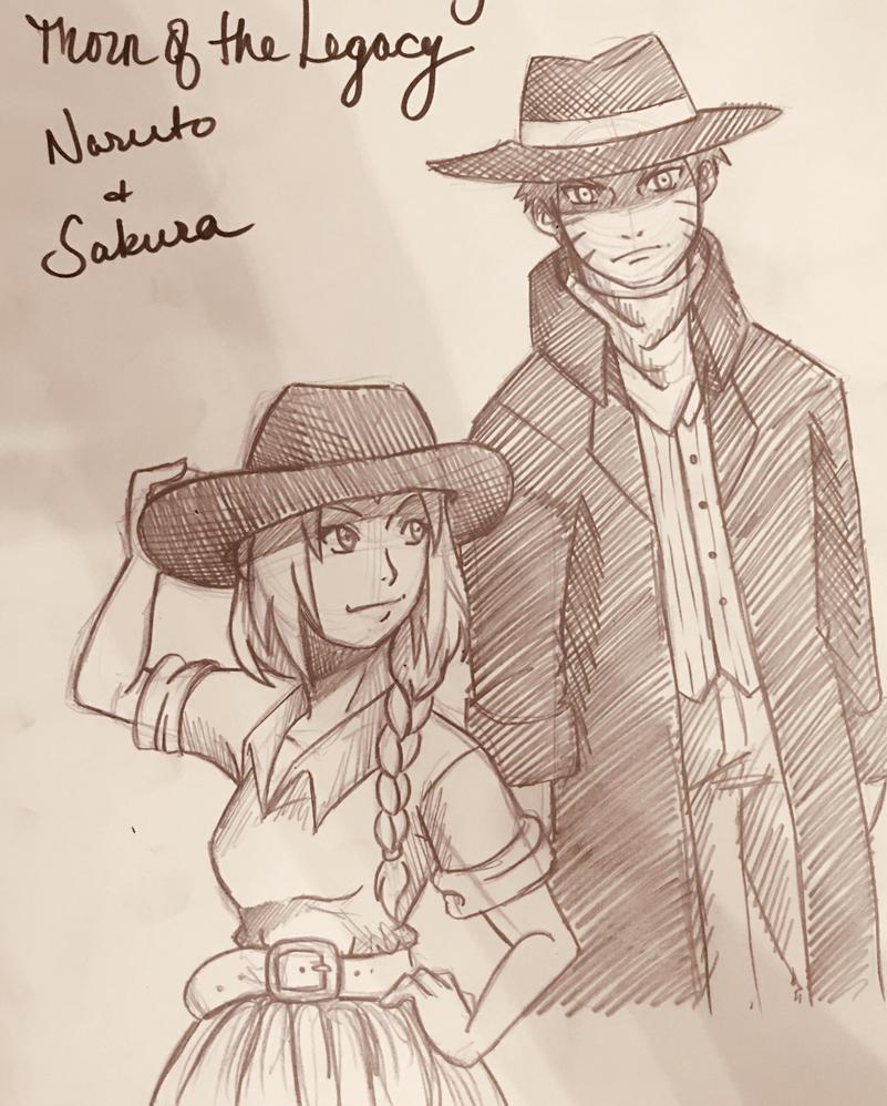 naruto and sakura: thorn of the legacy designskitsunena on
