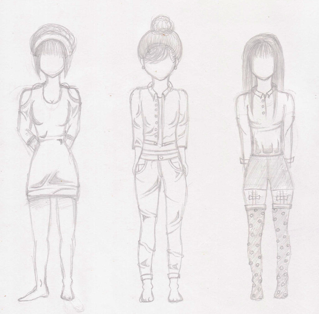 Clothing Sketches by AndiAnime on DeviantArt