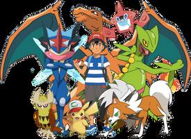 Pokemon - Ash Best Team by DavidBksAndrade