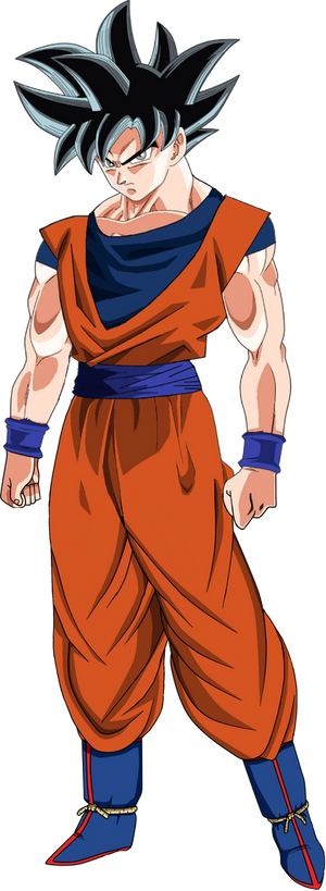 Goku Ultra Instinct PNG Full Body W/Suit