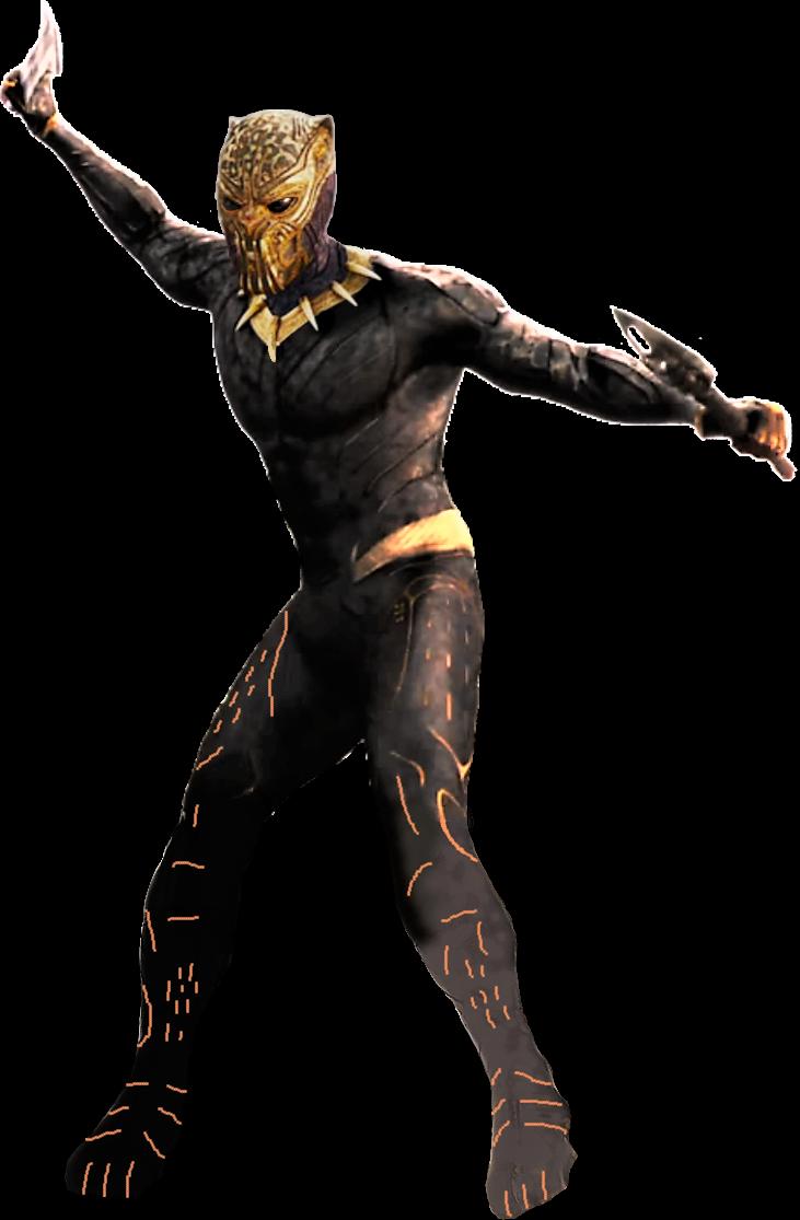 Mcu Black Panther Killmonger Golden Jaguar Png By