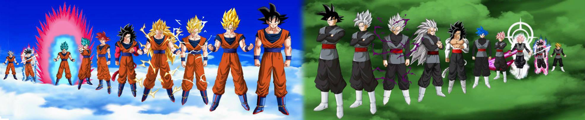 Dragon Ball Super - Goku and Black Transformations