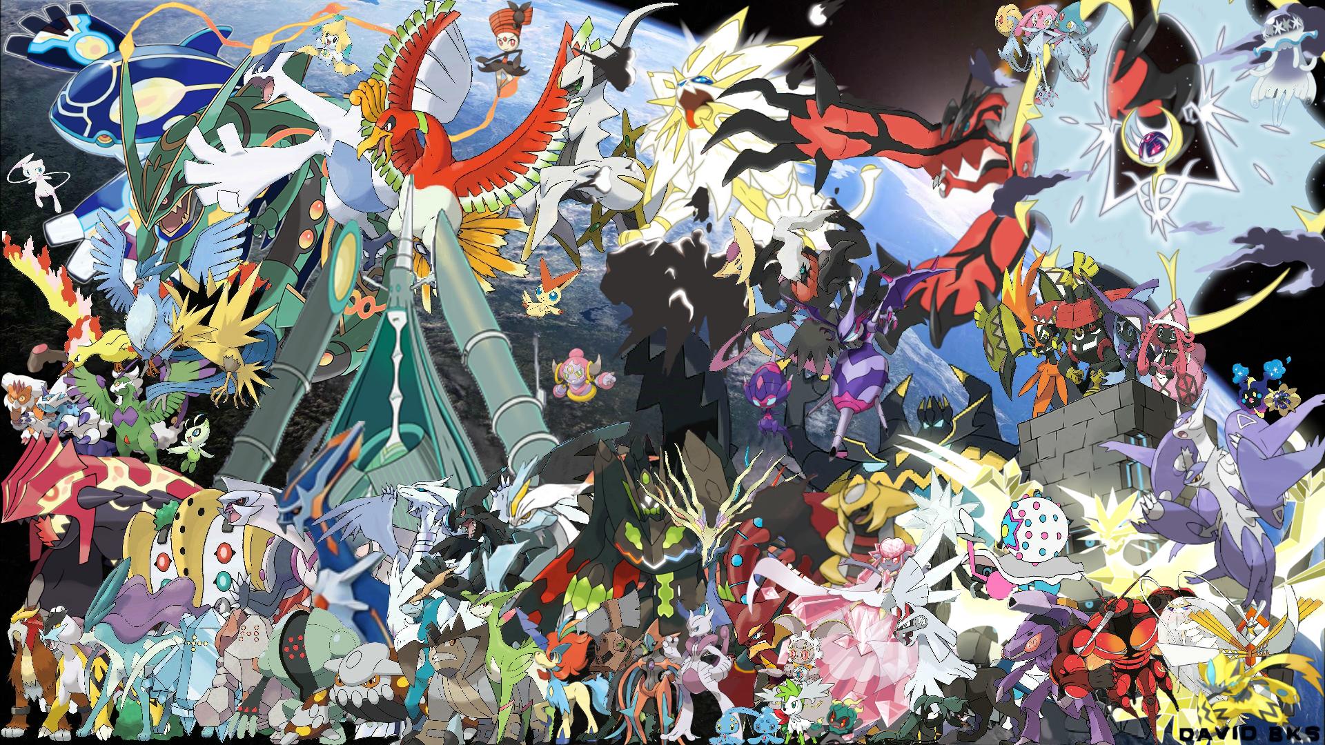 All legendary pokemon version ii by davidbksandrade on - All legendary pokemon background ...