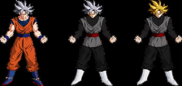 Goku and Goku Black Ultra Instinct PNG