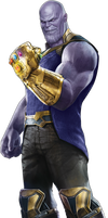 Avengers Infinity War - Thanos PNG by DavidBksAndrade