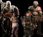 Bayek and Kratos Killers of Gods