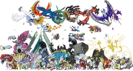 All Legendary Mythical UB Pokemon PNG by DavidBksAndrade
