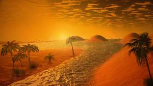 Hot orange place - Terragen and Photoshop