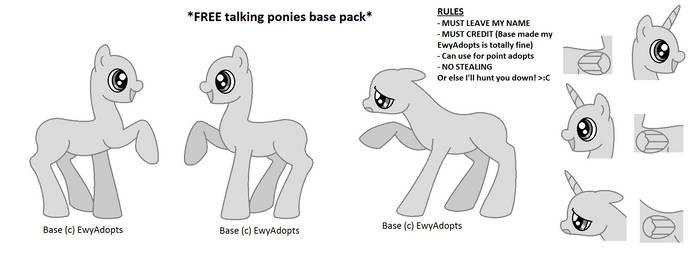 FREE base 02 - talking ponies by EwyAdopts