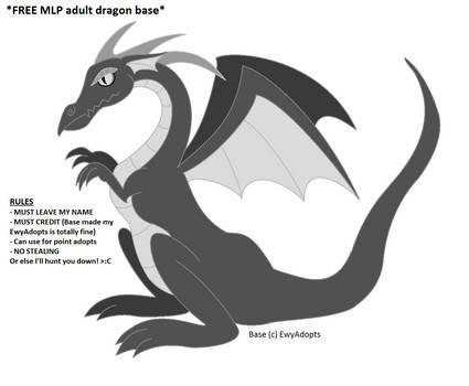 FREE base 03 - MLP-ish adult dragon by EwyAdopts