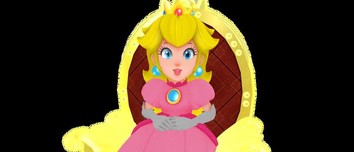 Peach On Throne