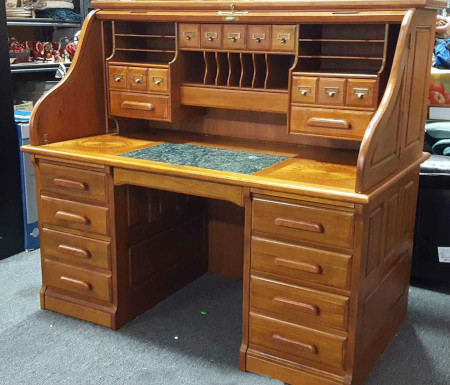 Antique Roll Top Desk Opened