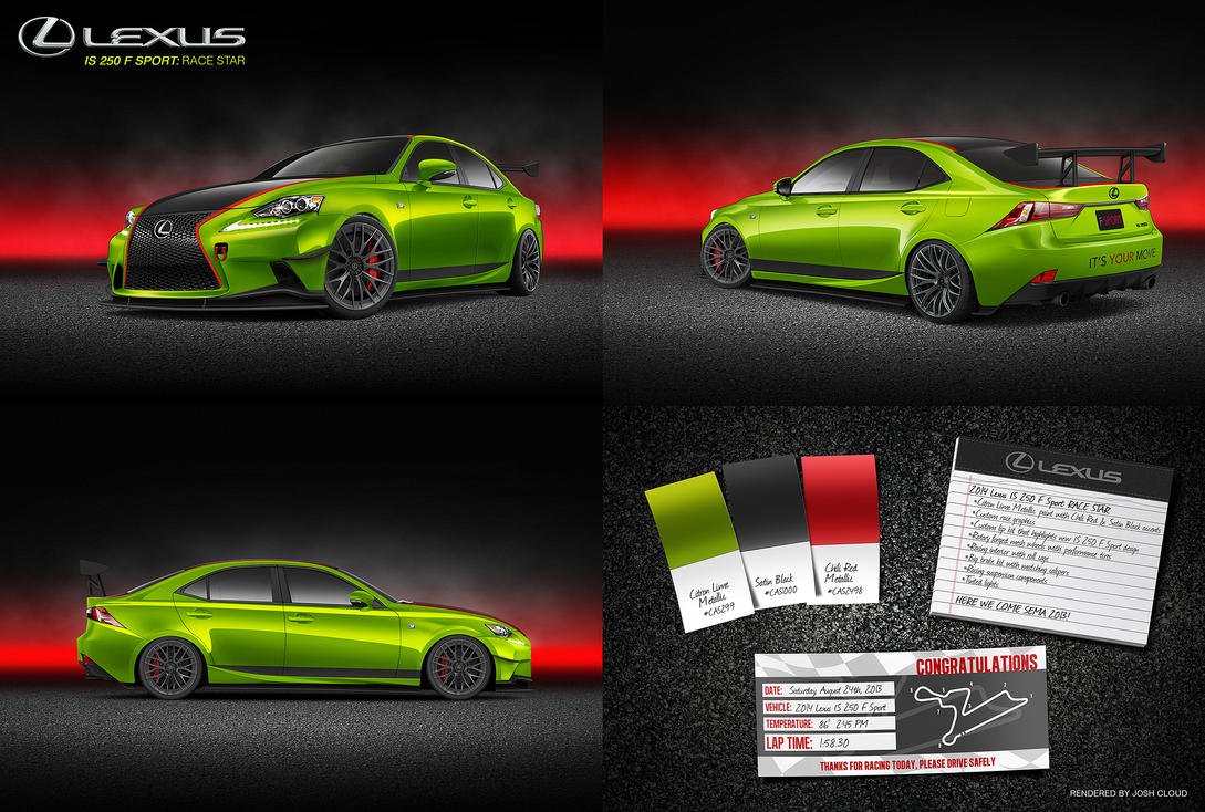 Lexus IS 250 F Sport: Race Star by JoshCloud